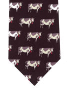 COW TIE - Friesian Cows on Black - TIE STUDIO