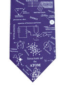 Structure of the Atom on blue  - TIE STUDIO
