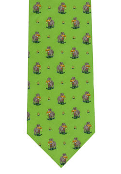 Dog & Bird Shooting Tie